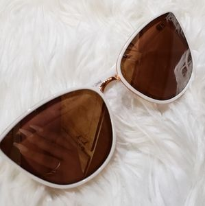 Accessories - Rose gold and white frame sun glasses
